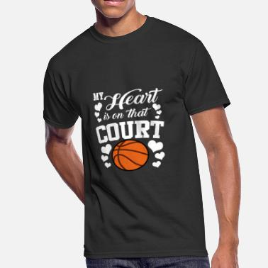 Basketball Court My Heart Is On That Court Basketball - Men's 50/50 T-Shirt