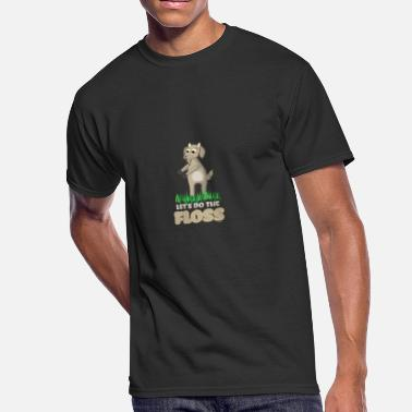 Dancing Goat Floss Dance Move Goat - Men's 50/50 T-Shirt