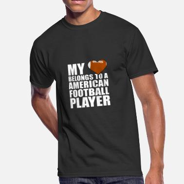 My-heart-belongs-to-a-football-player... My Heart Belongs To Football Player-Football-TB - Men's 50/50 T-Shirt