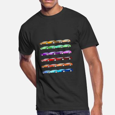 Collector Colored Cars - Men's 50/50 T-Shirt