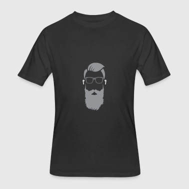 Beard Bearded Hipster Earpods Airpods Hairstyle - Men's 50/50 T-Shirt
