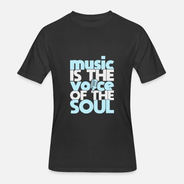 Kids World Record Music is the Voice of the Soul quote gift - Men's 50/50 T-Shirt