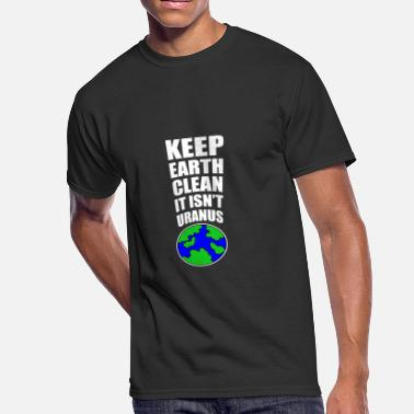 Sustainable Fishing Keep The Earth Clean - Men's 50/50 T-Shirt