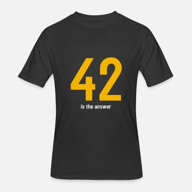 42 Is The Answer The answer is 42 - Men's 50/50 T-Shirt