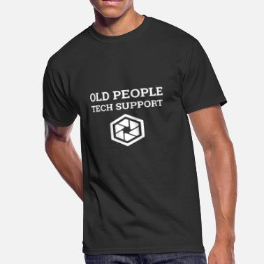 680e54ee Old People Funny Funny Old People Tech Support Gift T-Shirt - Men'