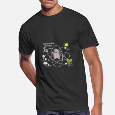 Geothermal Energy Generation Geothermal Solar Wind Water Idea - Men's 50/50 T-Shirt