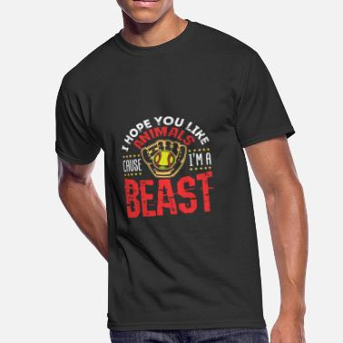 Beasts Quote Softball Funny Beast Quote - Men's 50/50 T-Shirt