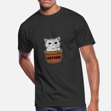 508694d4 Catcus Pet Plant - Cactus Feline Love - Funny Cat - Men's