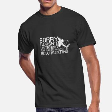 Bow Hunting Gift Shirt for Men Thinking About Bow - Men's 50/50 T-Shirt