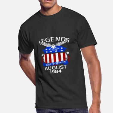 August 1984 Legends Are Born In August 1984 - Men's 50/50 T-Shirt