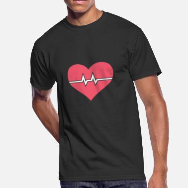 Cute Design Heartbeat | Cute Nurse Design - Men's 50/50 T-Shirt