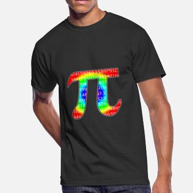 Rainbow Pi Rainbow Pi Symbol Funny Science Geek Algebra - Men's 50/50 T-Shirt