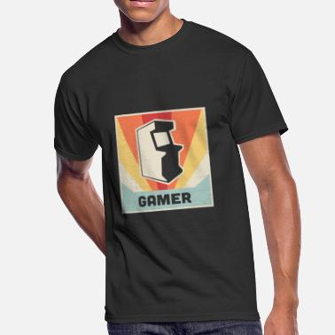 Arcade Styles GAMER - Vintage Style Arcade Game Poster - Men's 50/50 T-Shirt
