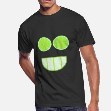 Lime Lime face as a gift idea - Men's 50/50 T-Shirt