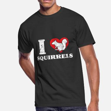 Nut House Squirrel nuts bark tree house - Men's 50/50 T-Shirt