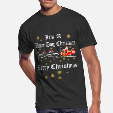 Wiener Dog Christmas Its A Wiener Dog Christmas Merry Christmas - Men's 50/50 T-Shirt