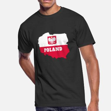 Cracow Poland Map with National Colors and Eagle / Gift - Men's 50/50 T-Shirt