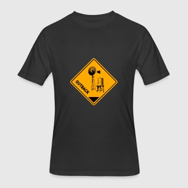 The Outback Outback Road Sign - Men's 50/50 T-Shirt