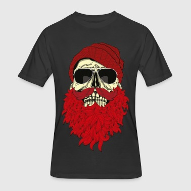 Hipster Skull with beard and Glasses - Men's 50/50 T-Shirt