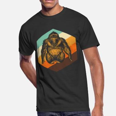 Orange Monkey Orang Utan Retro Monkey - Men's 50/50 T-Shirt