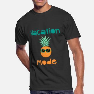 Traveling Quotes Vacation Mode Pineapple With Sunglasse - Men's 50/50 T-Shirt