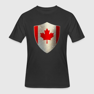 Canada Ski Flag Canada Flag Shield - Men's 50/50 T-Shirt