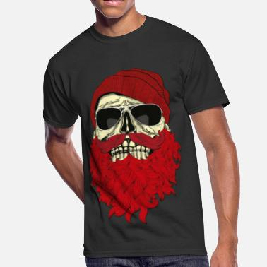 Hipster Hipster Skull with beard and Glasses - Men's 50/50 T-Shirt