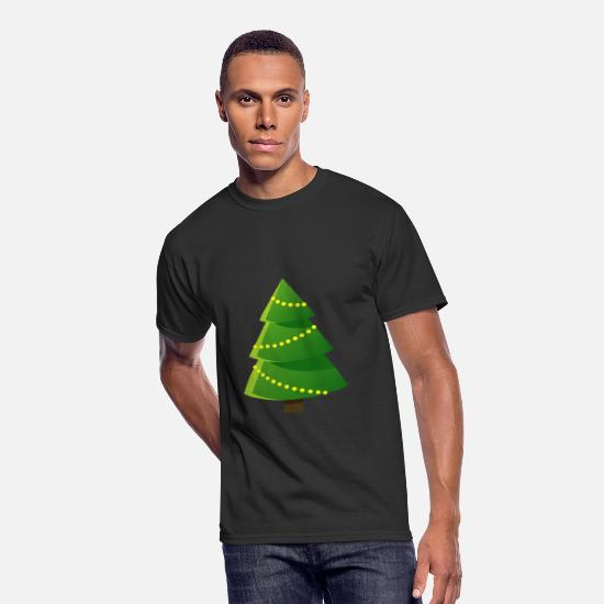 Image T-Shirts - Cool Christmas tree spruce New Year vector image - Men's 50/50 T-Shirt black