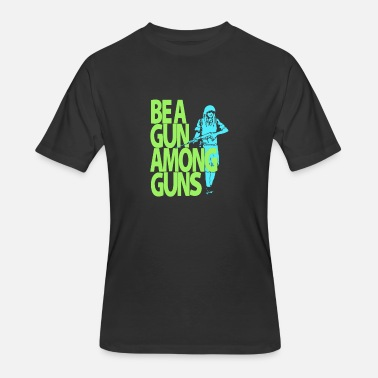 Gun Humour Bea gun among guns - Men's 50/50 T-Shirt