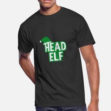 Head Elf Christmas Head Elf - Men's 50/50 T-Shirt