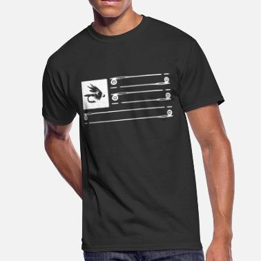 Fly Fly Fishing Flag tee - Men's 50/50 T-Shirt