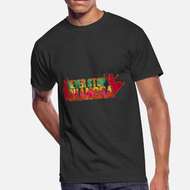 Never Stop The Music NEVER STOP BHANGRA - Men's 50/50 T-Shirt