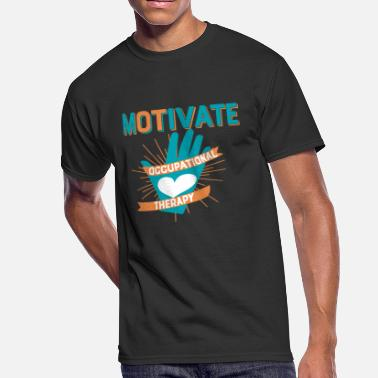 Heart Hands Occupational Therapy Gift Motivate OT Movement - Men's 50/50 T-Shirt