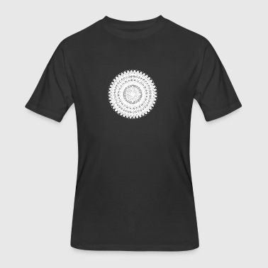 Turkish Style Flower Mandala. Vintage decorative elements. - Men's 50/50 T-Shirt