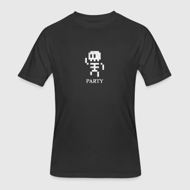 8 Bit Skeleton Party - Men's 50/50 T-Shirt