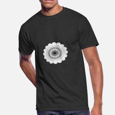 Henna Art Circular pattern in the form of a mandala. Henna - Men's 50/50 T-Shirt