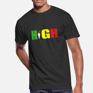 Rasta Cartoon High Rasta - Men's 50/50 T-Shirt