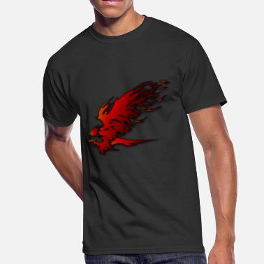 Fire Hawk eagle - Men's 50/50 T-Shirt