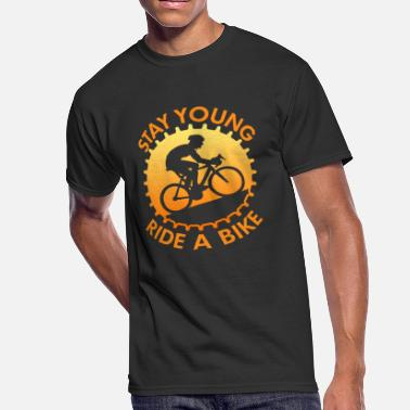 Stay Young Stay Young Ride A Bike - Men's 50/50 T-Shirt