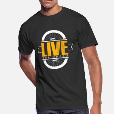 The Very Tired Girl Bike live the dream - Men's 50/50 T-Shirt