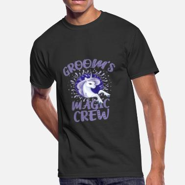 Gay Bachelor Party Team Groom Unicorn Crew Bachelor Party Funny Group - Men's 50/50 T-Shirt