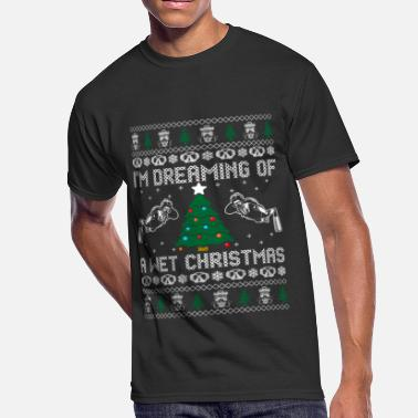 Im Dreaming Im Dreaming Of A Wet Christmas - Men's 50/50 T-Shirt