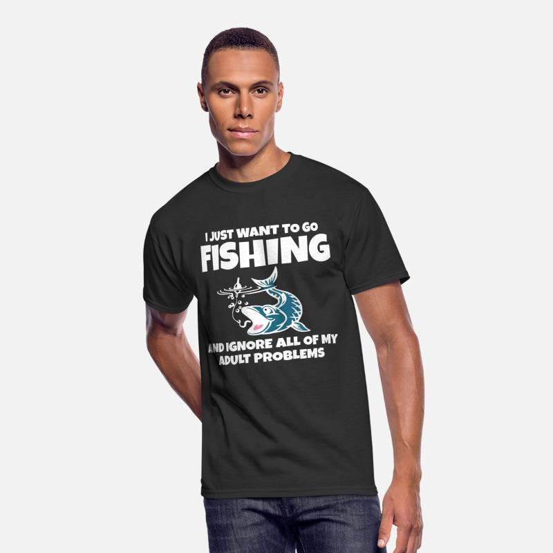c428ba5e Face T-Shirts - fishing fisherman rod gift bite river trout pike - Men's 50