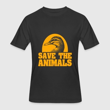 Save Birds Duck Bird Save the Animals - Men's 50/50 T-Shirt