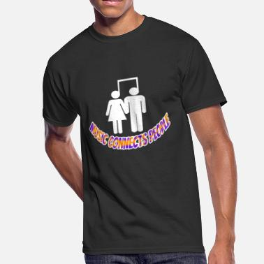 Connected Music Music Connects People - Men's 50/50 T-Shirt