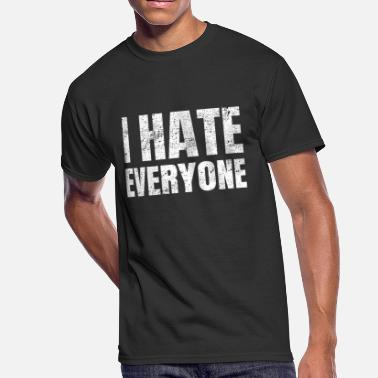 Hate School I hate Everyone Shirt - Men's 50/50 T-Shirt