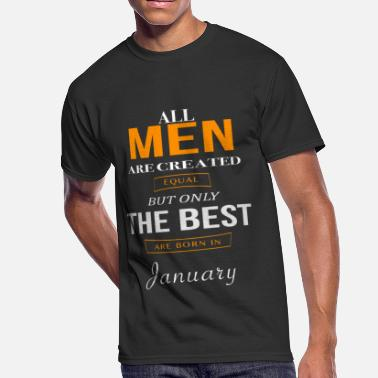Birthday In January January Birthday - Men's 50/50 T-Shirt