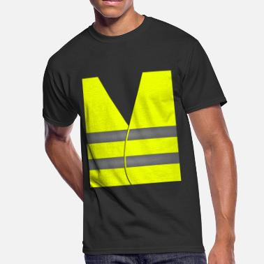 Safety Vest Yellow Vest Protest Costume - Men's 50/50 T-Shirt