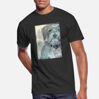 Cute Terrier Vintage Style - Men's 50/50 T-Shirt