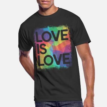 better daily life LGBT Rainbow Love is Love T-Shirts Gay Pride Shirts Respect Transgender People